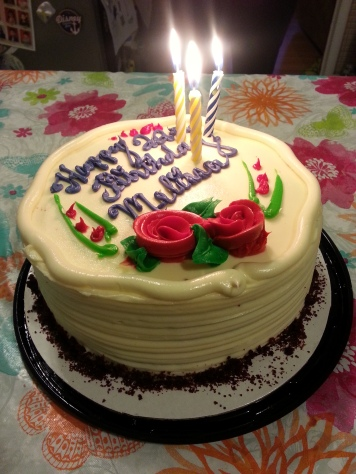 This delicious Red Velvet cake. Reminiscent of my 18th birthday cake.